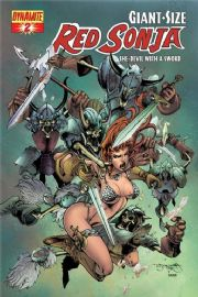 Giant Sized Red Sonja #2 Segovia Cover (2008) Dynamite Entertainment comic book